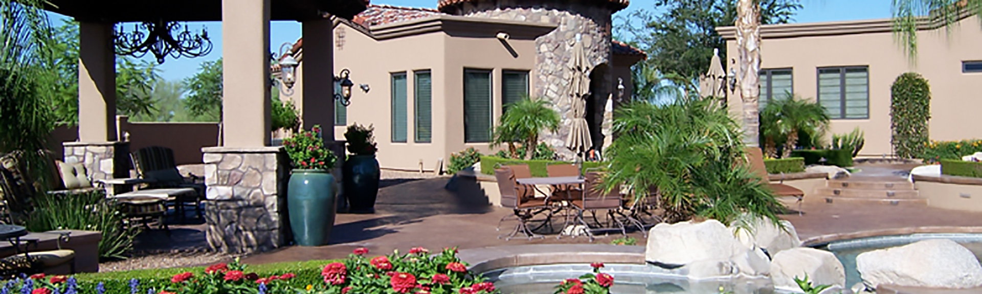 home courtyard landscaping image