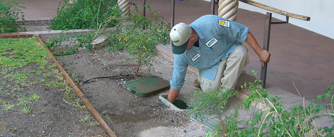An Irrigation Service Call landscaping