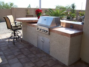 BBQ Grill with Raised Counter