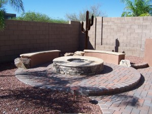 Fire Pit with Stone Veneer