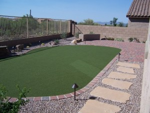 Putting Green and Seating Area