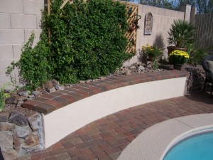 Poolside Retaining Wall